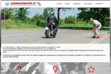 sito web per corsi moto